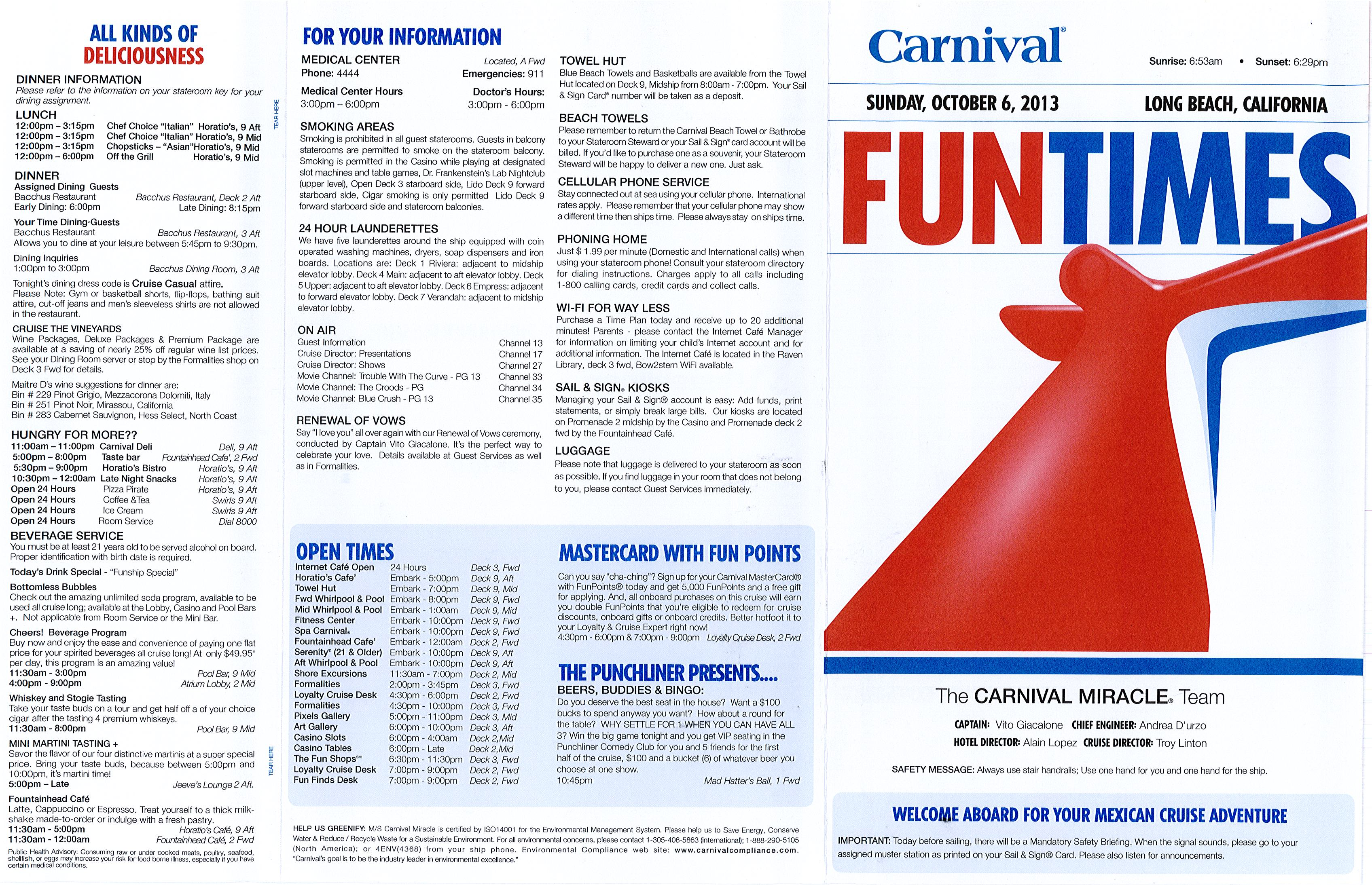Fun Times  Mexican Riviera  Miracle Oct 3913  Cruise Critic Message Boa